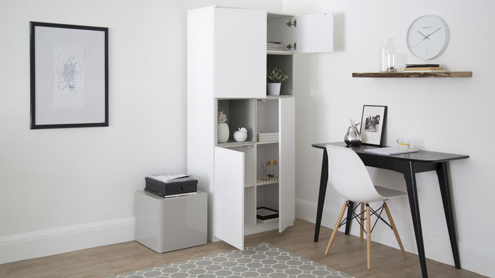 Large White and Grey Cabinet