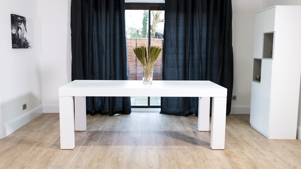White 6 Seater Dining Table