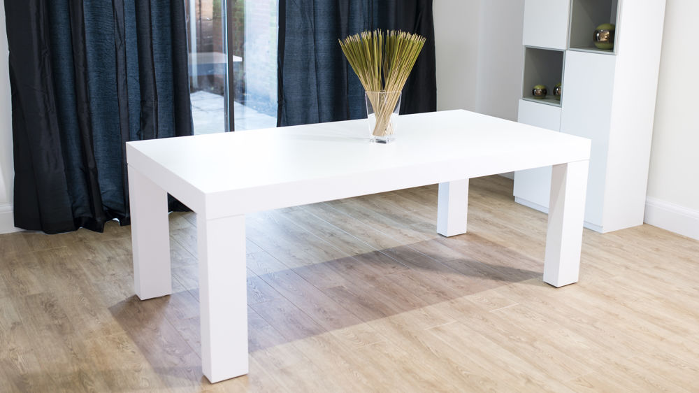 White Oak Table ~ Modern white oak dining table chunky