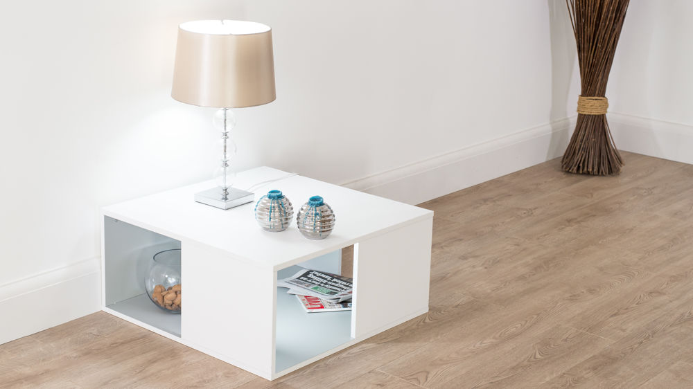 White Wooden Small Coffee Table