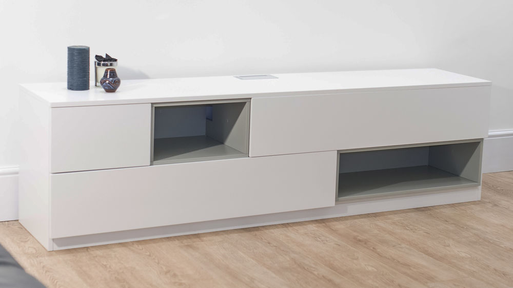 Modern White Oak TV Unit 3 Drawers and 2 Shelves UK : emilia white oak tv unit 2 from www.danetti.com size 1000 x 562 jpeg 39kB