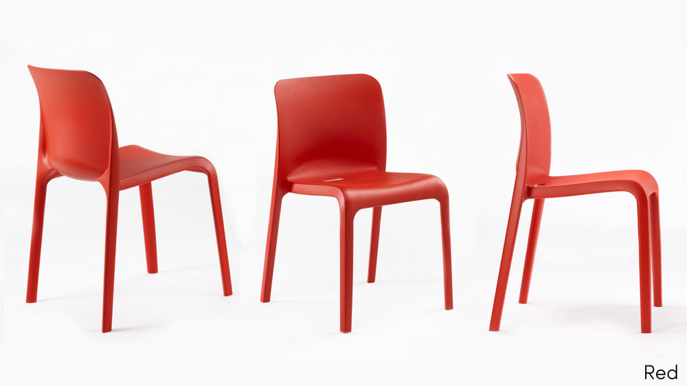 Red Plastic Dining Chairs