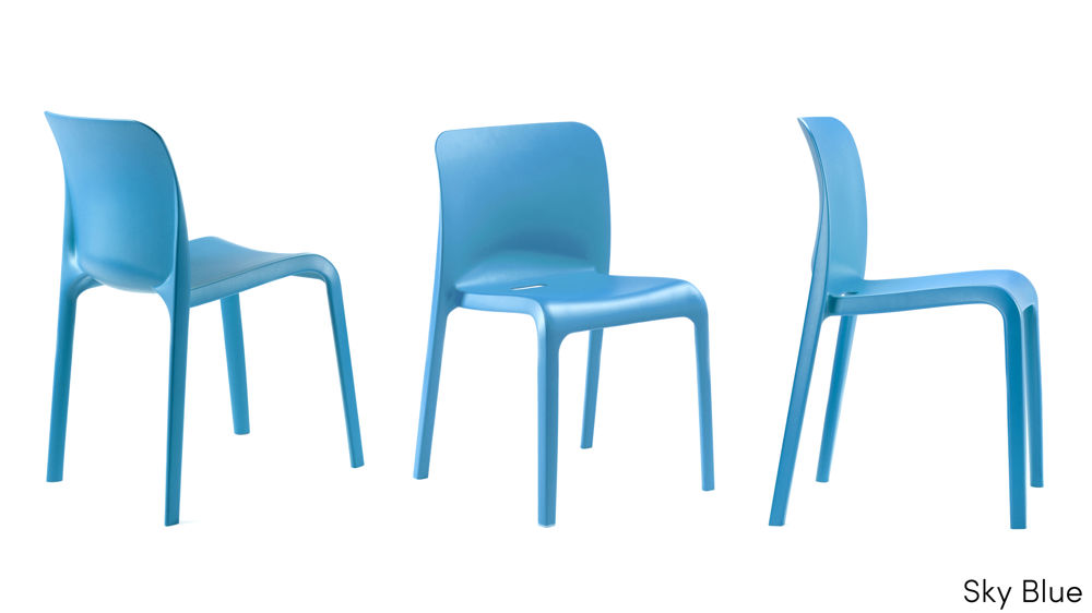 Modern Blue Dining Chairs