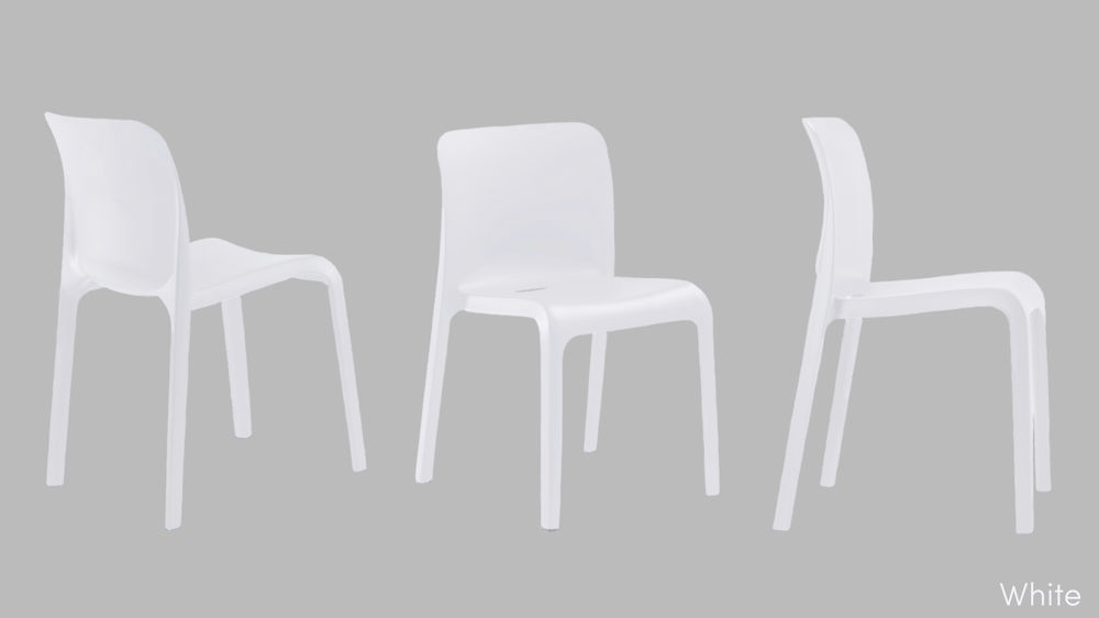 Modern Cream Plastic Dining Chairs Stylish White Chairs UK