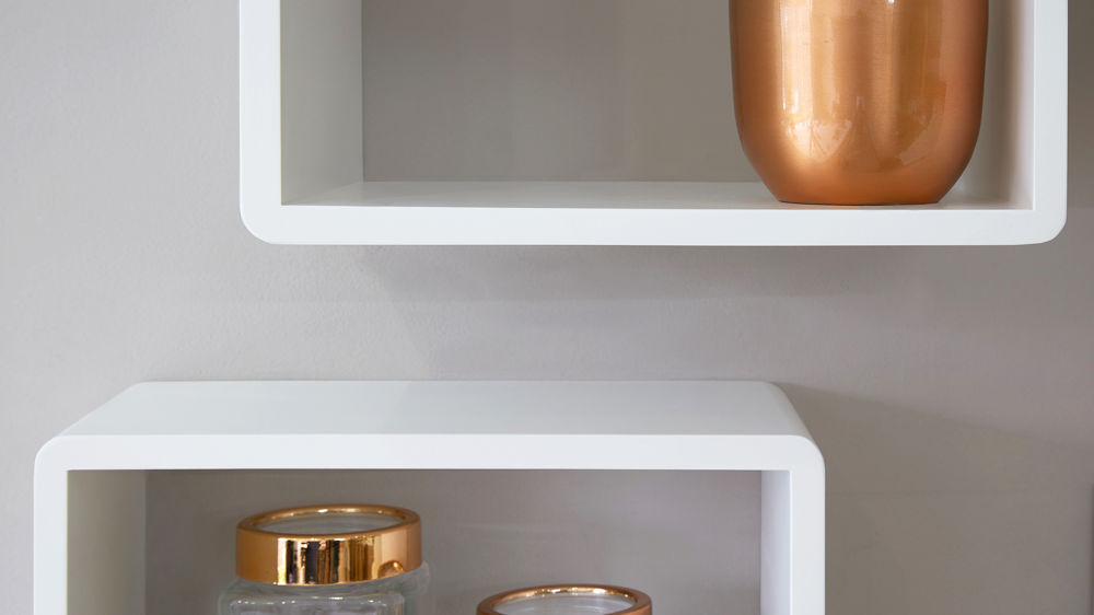 Matt White Shelves