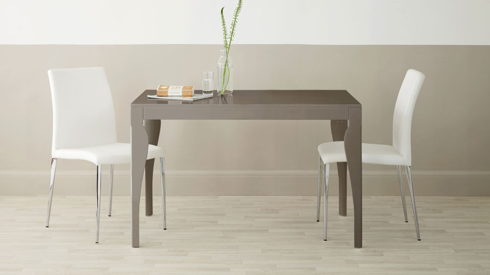 4 Seater Grey Gloss Dining Table