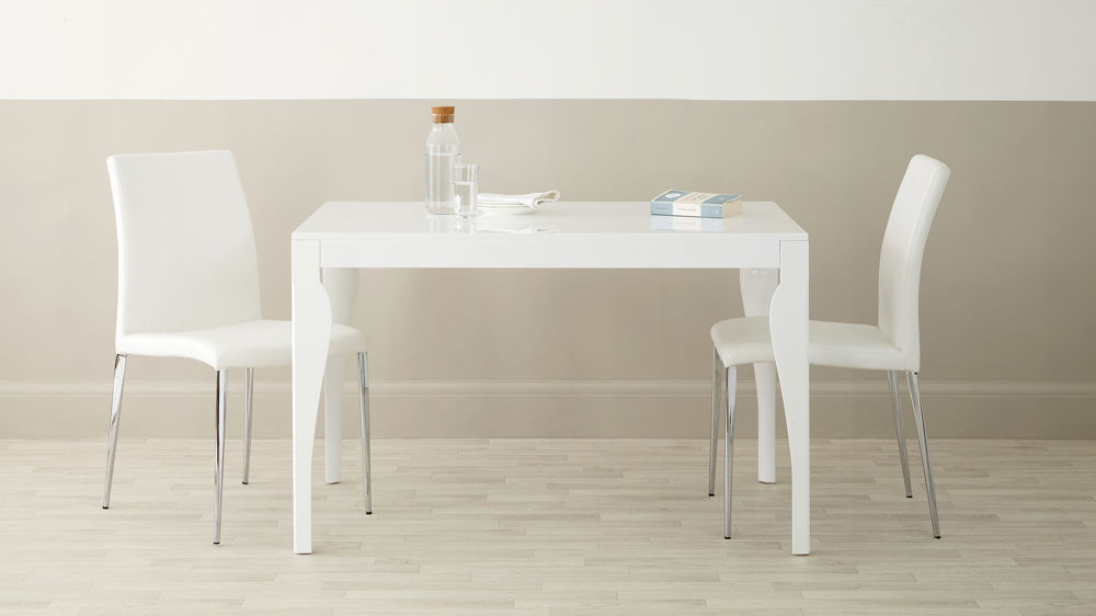 4 Seater White Gloss Dining Table