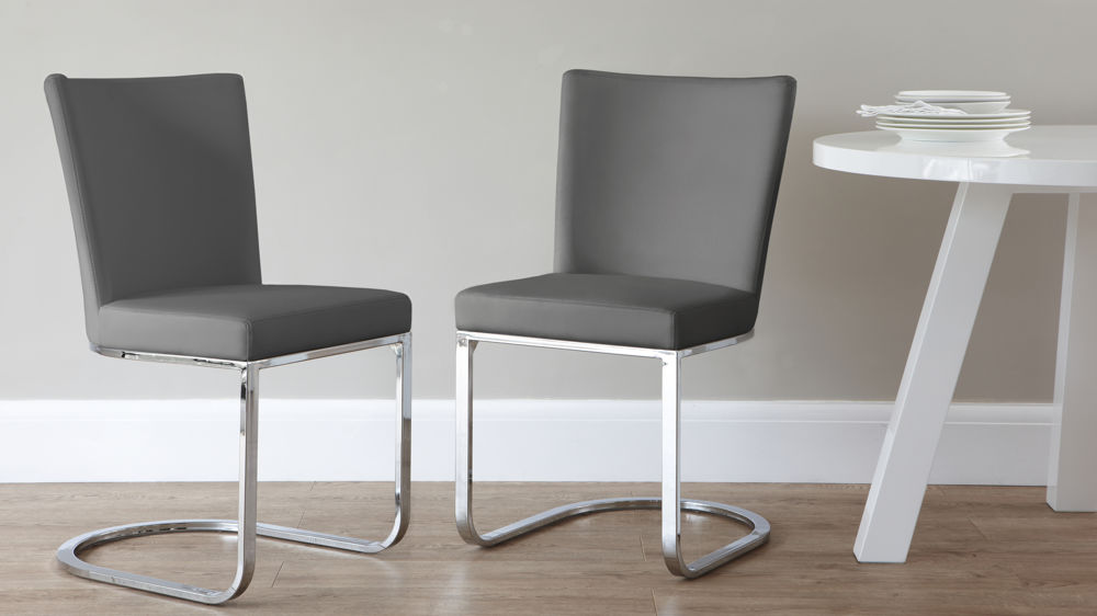 Dark Grey Swing Dining Chairs