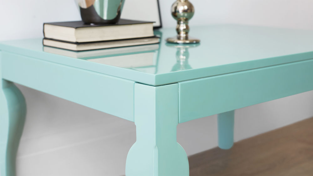 Aqua Gloss Coffee Table Living Room Furniture Uk Delivery