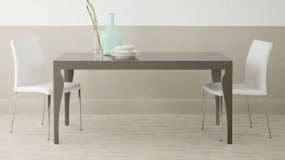 Dining Table in Grey Gloss that will Seat 4-6 People