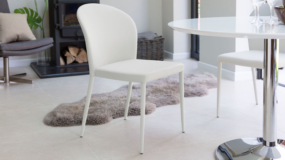 Stylish White Dining Chairs
