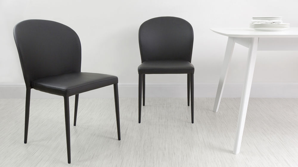 Black Dining Chairs that can Stack