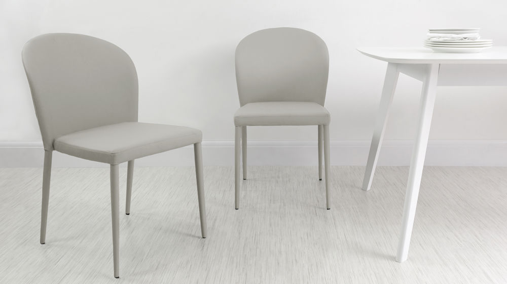 Light Grey Dining Chairs that can Stack