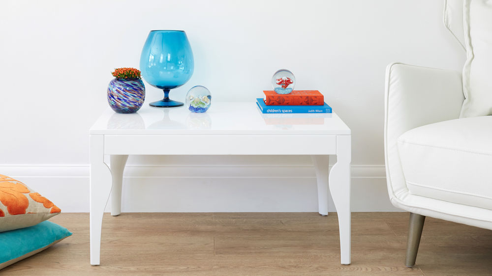 Modern and Contemporary White Gloss Coffee Table