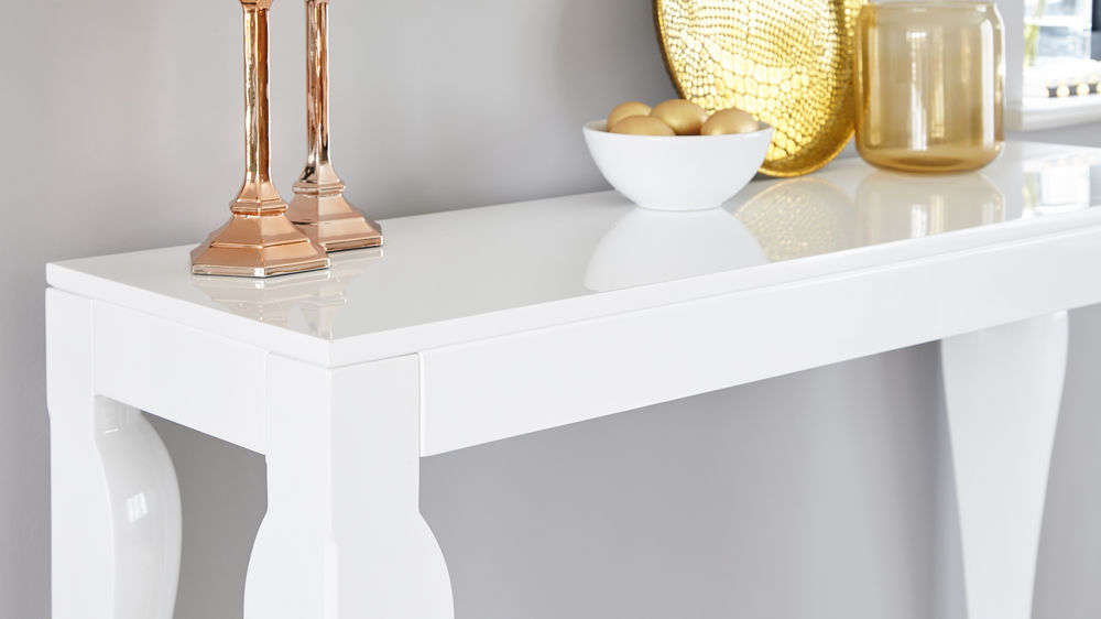 modern white hallway table