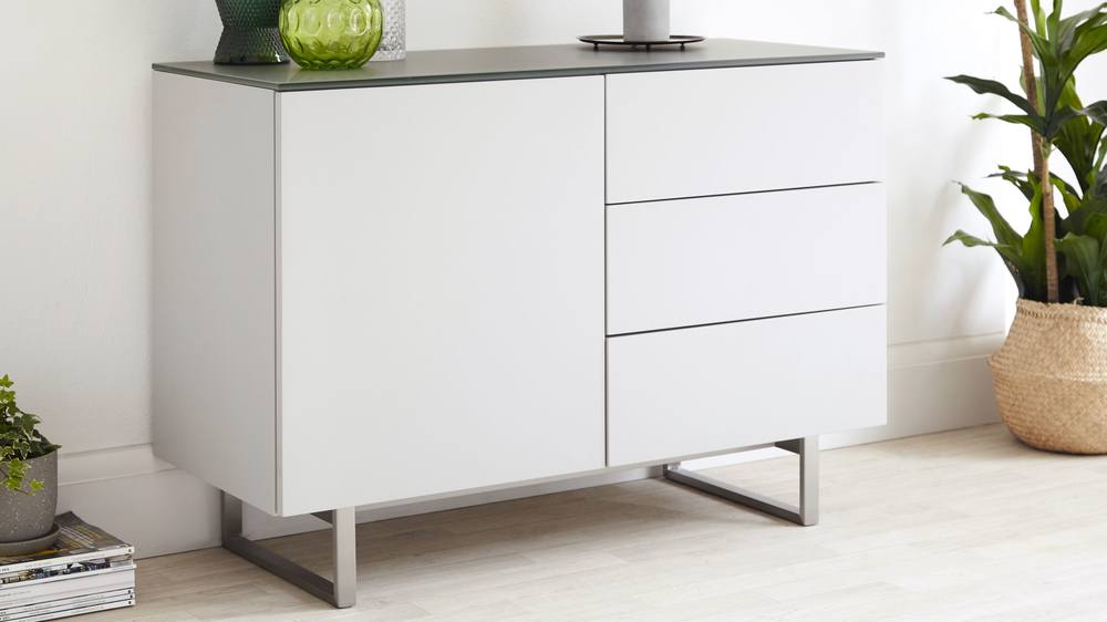 Compact sideboard with drawers and shelves
