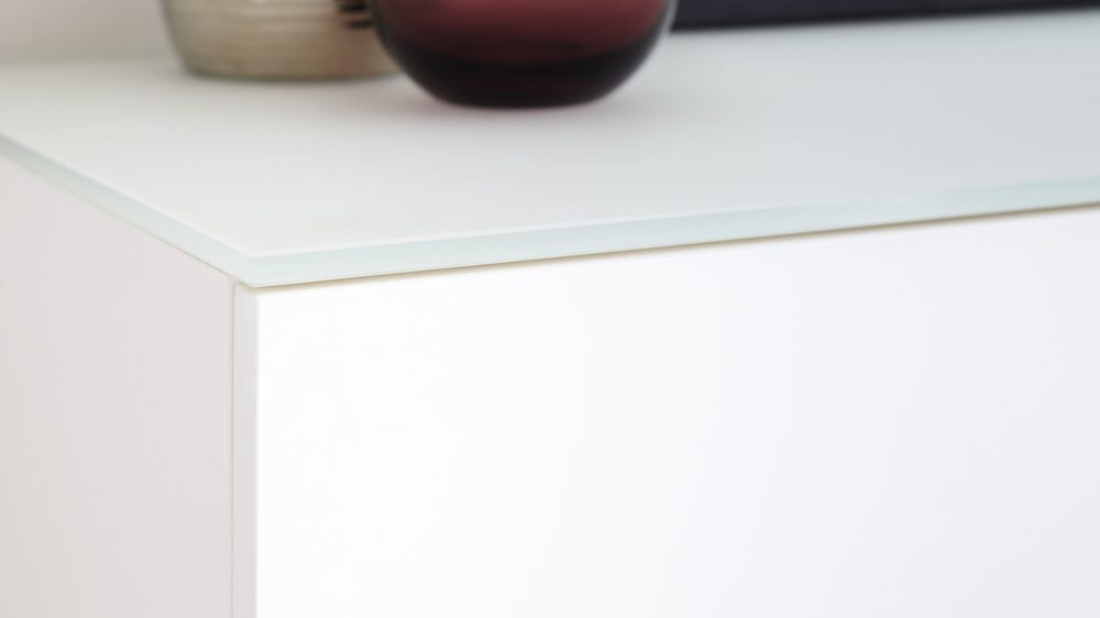 Frosted glass big sideboard