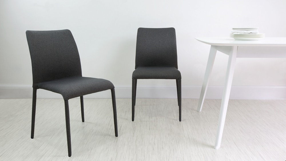 Graphite Fabric Dining Chairs