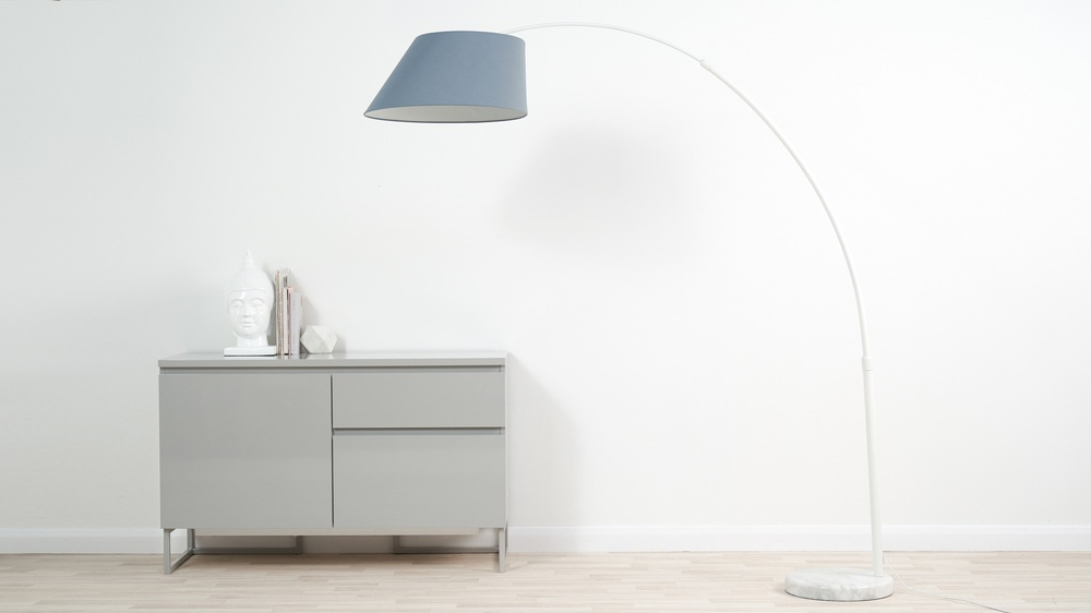 Evey modern white arc lamp