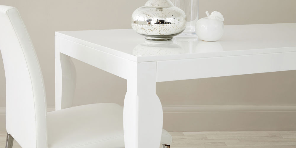 Eva 8 Seater White Gloss Dining Table