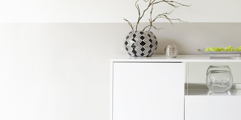 Reflect White Gloss and Chrome Sideboard
