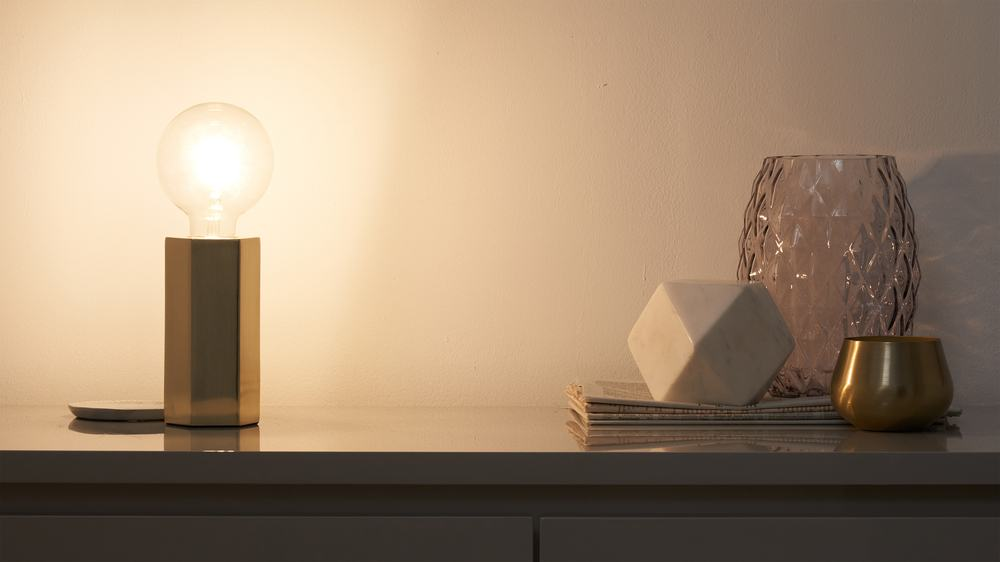 Small pendant bedside lamp