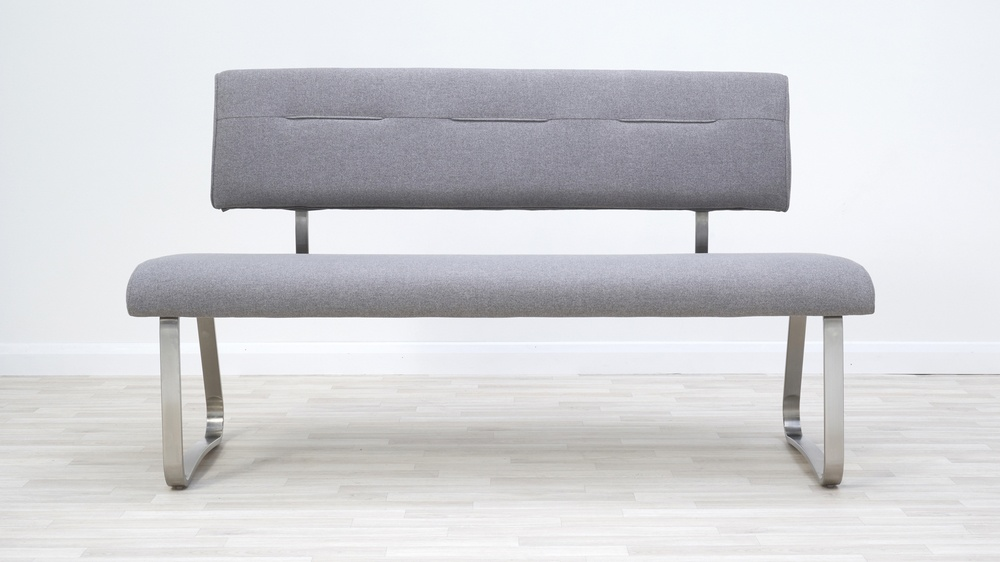 fabric bench grey