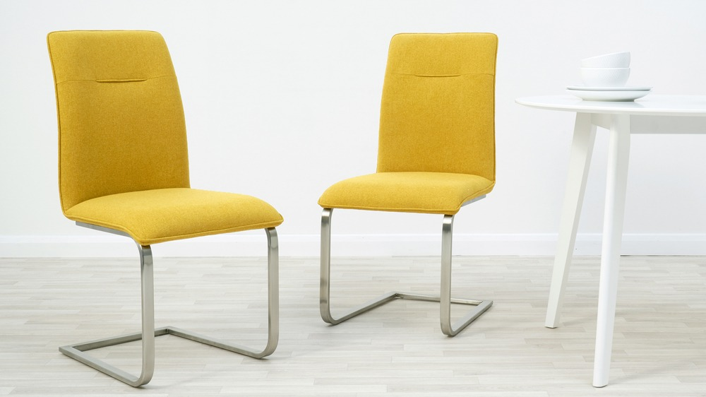 Mustard Yellow Dining Chair Yellow Fabric Dining Chair