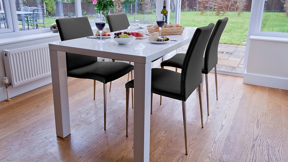 Black and White Dining Set UK Delivery