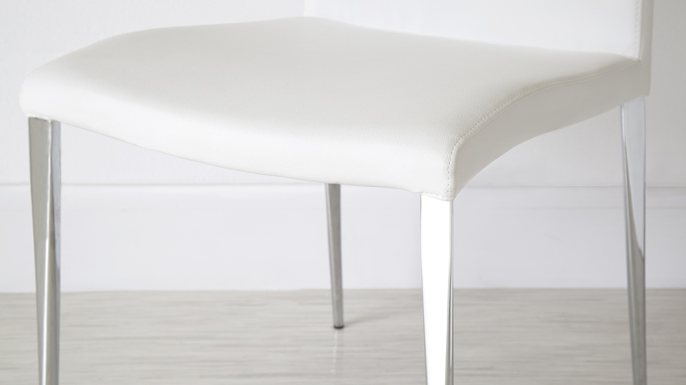 High Quality White Leather Dining Chairs