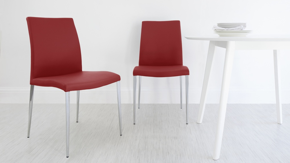 Modern Bright Red Dining Chairs
