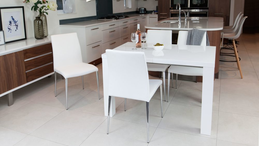 White Extending Dining Set UK