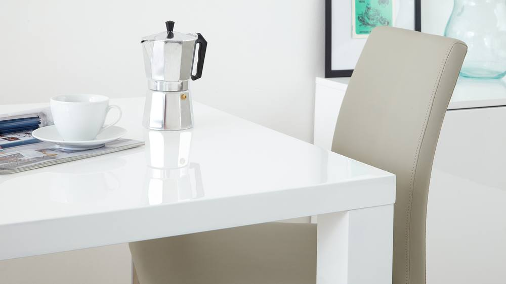 White Gloss 1.2m Extending Dining Table