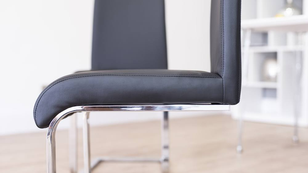 Modern Black Cantilever Dining Chairs UK