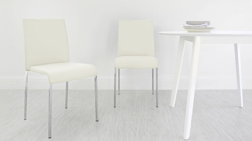 Cream Stackable Dining Chairs