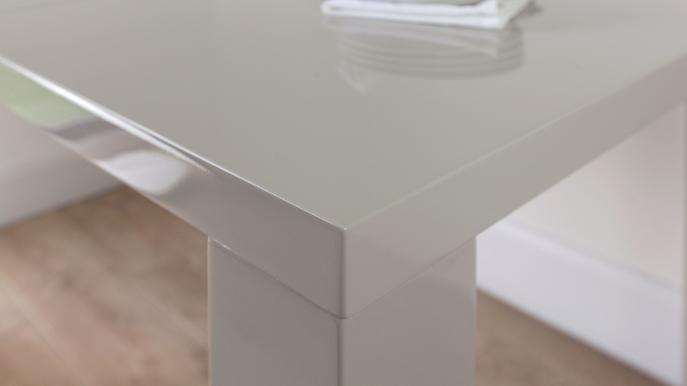 Cheap Grey Gloss Dining Table