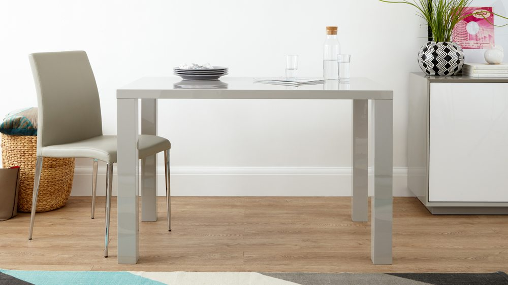 Grey High Gloss Dining Table Kitchen Table Danetti Uk