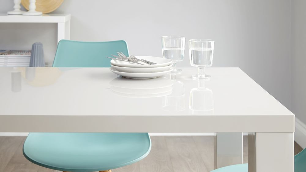 Grey High Gloss Dining Table