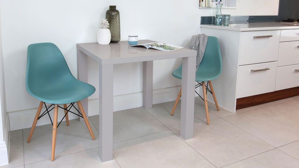 Small Kitchen Table And Chairs For Two: Grey Gloss Kitchen Table