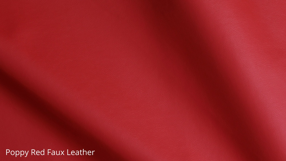 Poppy red faux leather