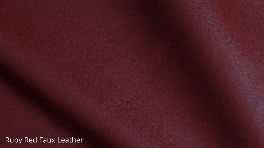 Ruby red faux leather