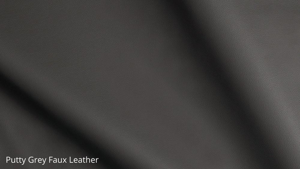 Putty grey faux leather