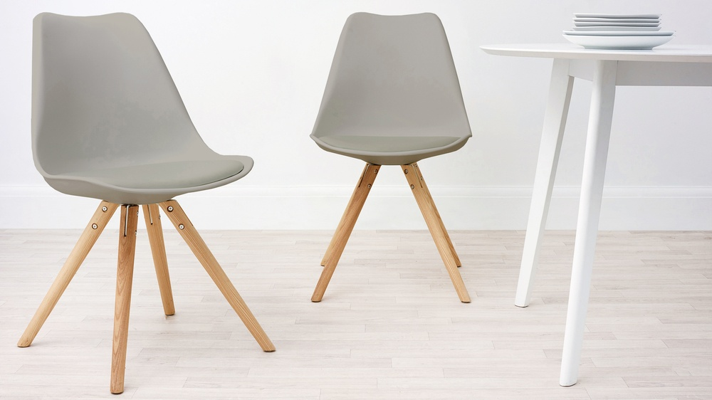 Taupe grey dining chair
