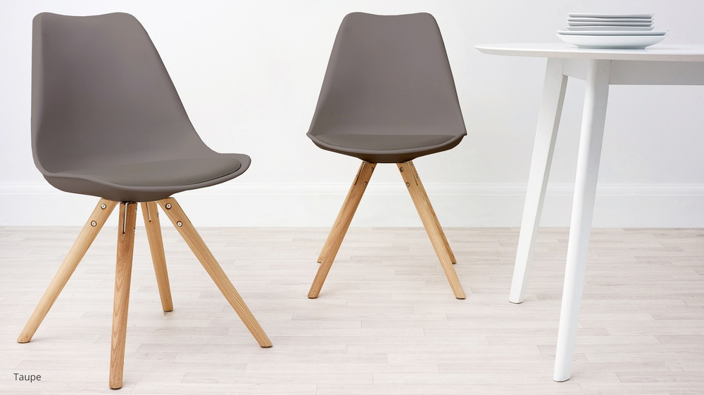 taupe dining chairs