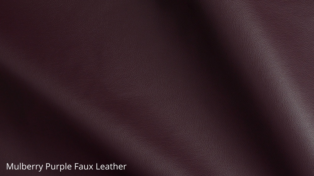 Mulberry purple faux leather furniture