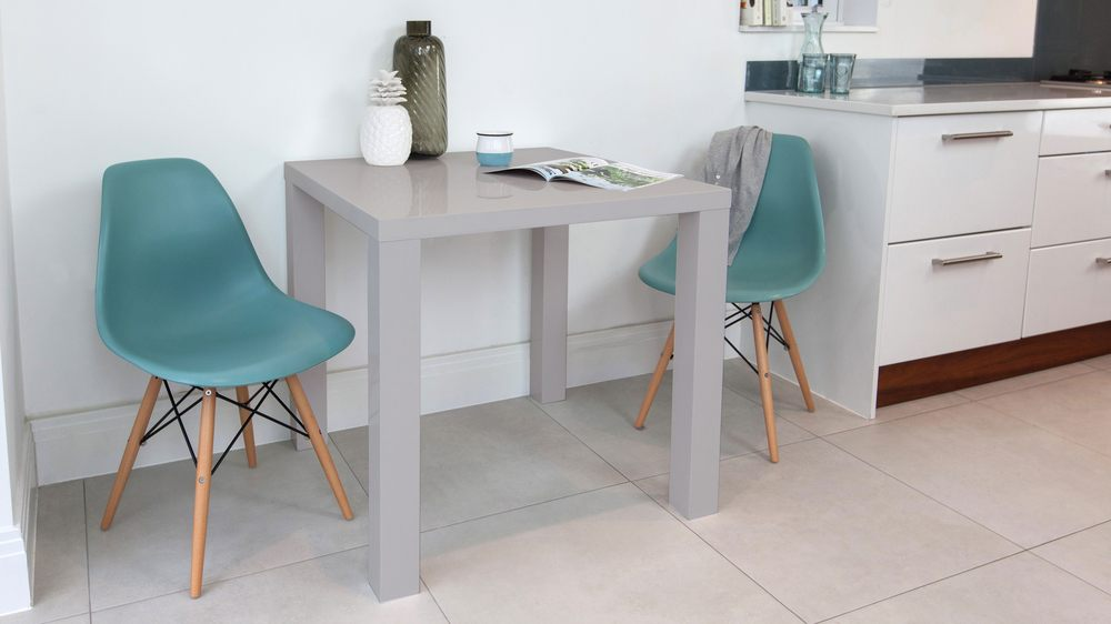 Grey gloss small square kitchen table