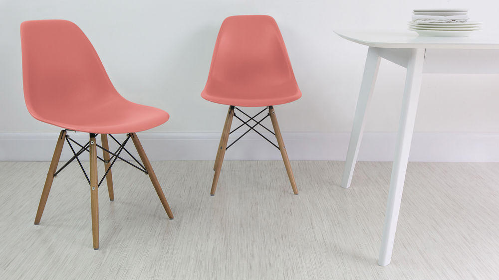 Modern Pink Eames Dining Chairs