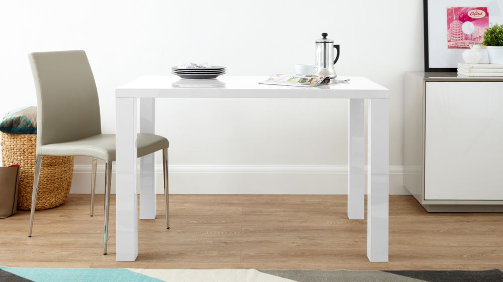 White Gloss Modern 4 Seater Dining Table Danetti UK : fern white gloss 4 seater dining table 10 from www.danetti.com size 1000 x 562 jpeg 59kB