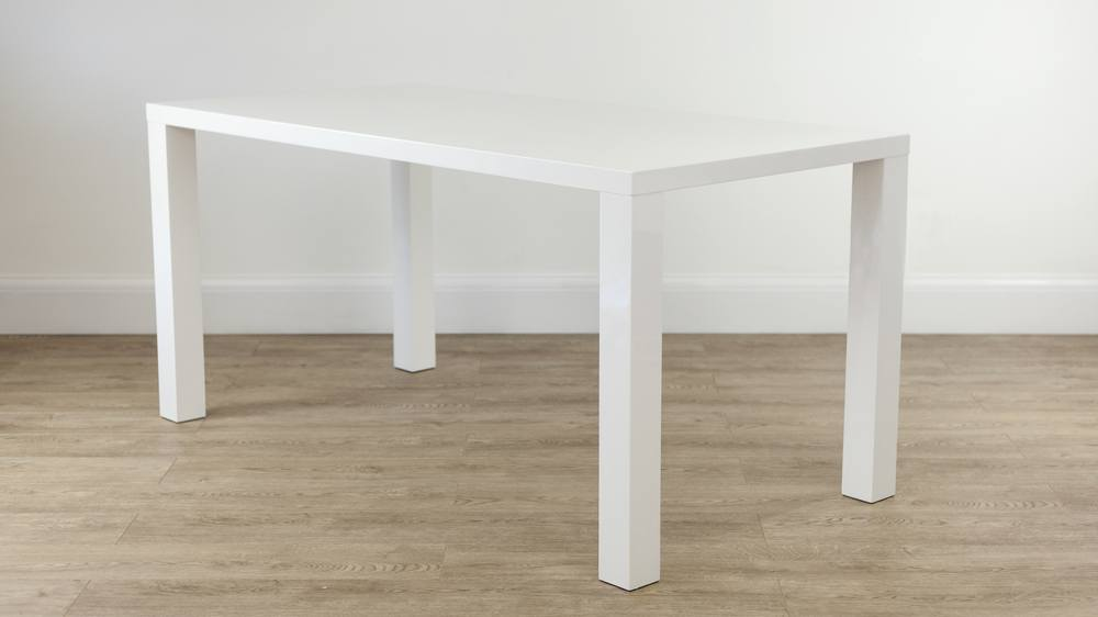 Modern white gloss dining table 6 seater table uk for 6 seater dining table