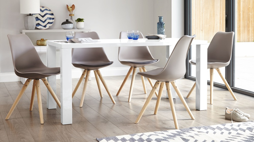 Modern White Gloss Dining Table   Seater Table  UK